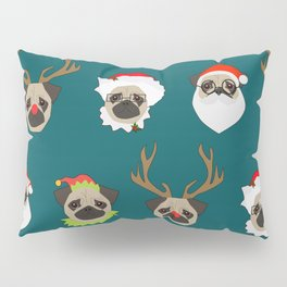 Christmas Pug Pattern Pillow Sham