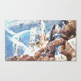 Battle with werewolf Canvas Print