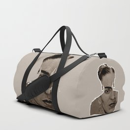 FRIDA - SHIRT version - sepia Duffle Bag