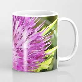 Purple Thistle Wildflower Coffee Mug