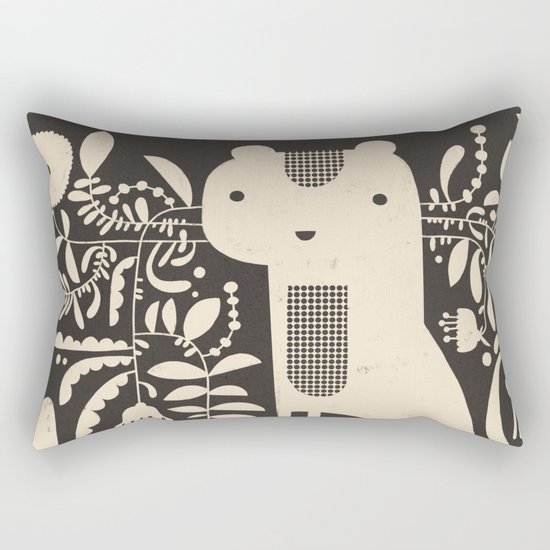 FLAMBOYANT WHISKERS Rectangular Pillow