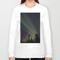 northern lights Long Sleeve T-shirts featuring Northern Lights 3 by Pamela Barron