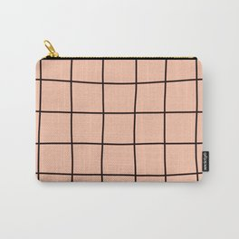 Simple Grid Pink Carry-All Pouch