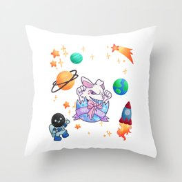 Easter egg shell space Gift Throw Pillow