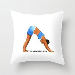 Upward Dog Throw Pillow