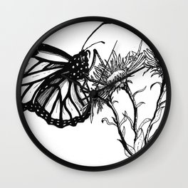 Monarch Butterfly by Sketchy Reputation Wall Clock