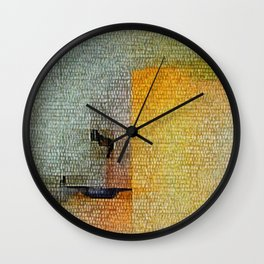 House Up the Hill Wall Clock