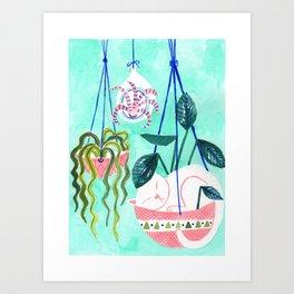 Hanging Gardens Art Print