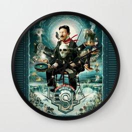 Nikola Tesla Master of Lightning Wall Clock