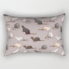 Pixel Rats Rectangular Pillow
