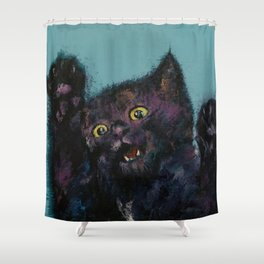 Ninja Kitten Shower Curtain