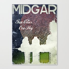 Final Fantasy VII - Midgar Tribute Poster *Distressed* Canvas Print