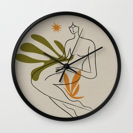 _ stars and nature Wall Clock