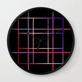 Geometric patchwork12 Wall Clock