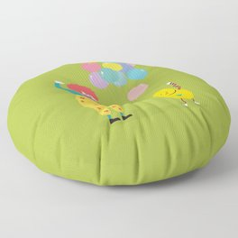Laugh every day Floor Pillow