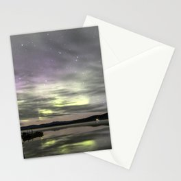 Aurora Borealis at Quartz Lake Delta Junction Alaska Stationery Cards