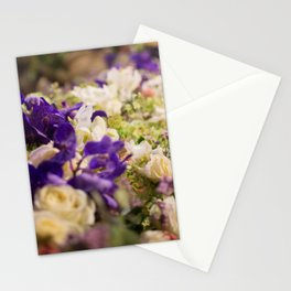 Bouquet of flowers, violets Stationery Cards