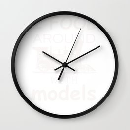 Model Train Hobby Trains Enthusiast product Wall Clock