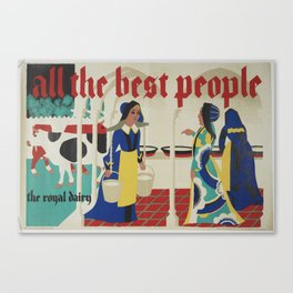 Poster, all the best people, late 1920s-early 1930s, United Kingdom, by Harold Williamson Canvas Print
