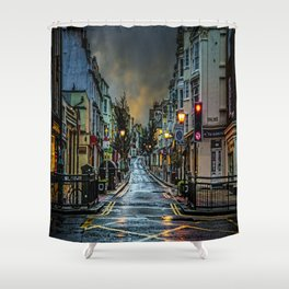 Wet Morning In Kemp Town Shower Curtain