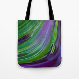Purple Green Contemporary Abstract Tote Bag