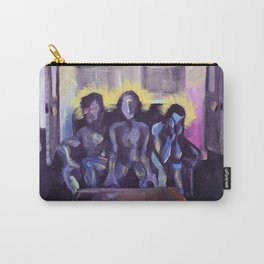 3 poets drink tea at Y-hut Carry-All Pouch