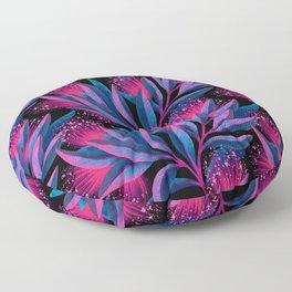 Pohutukawa - Pink / Blue Floor Pillow