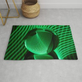 Green in the glass ball Rug
