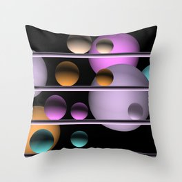balls and 4 colors Throw Pillow