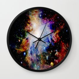 GaLaXY : Orion Nebula Dark & Colorful Wall Clock