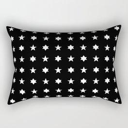 stars 83 - black and white Rectangular Pillow