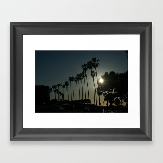 Hello, Palm Trees Framed Art Print
