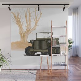 ABRC_(WWII COMBAT VEHICLES (USA) Wall Mural