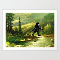 sasquatch Art Prints featuring Sasquatch by Andy Detskas