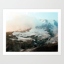 Snow on the Summit of Mount Rainier - Film Photograph Art Print