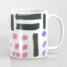 Pop Art Style Brushstroke Pattern Coffee Mug