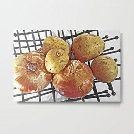 Potatoes and Onions Metal Print
