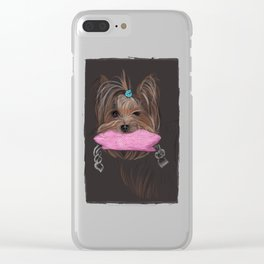 I love my Yorky Clear iPhone Case