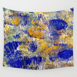 Autumn in yellow and blue Wall Tapestry