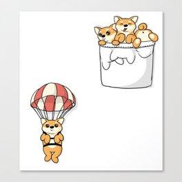 Cute Pocket Shiba Inus Canvas Print