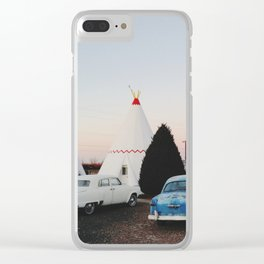 Wigwam Motel Clear iPhone Case