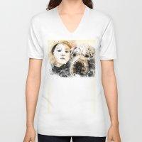 best friends V-neck T-shirts featuring Best Friends by Fresh Doodle - JP Valderrama