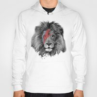 david bowie Hoodies featuring David Bowie Lion by Urban Exclaim Co.