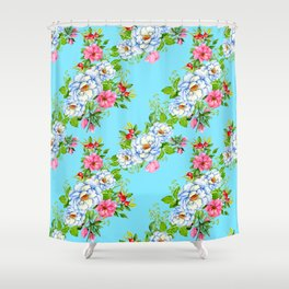 Vintage Floral Pattern No. 8 Shower Curtain