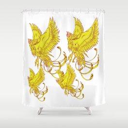 Bird of Fantasy Phoenix Shower Curtain