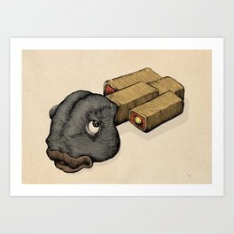 Fish Sticks Art Print