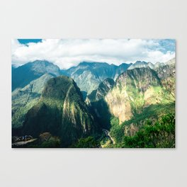 Beside Machu Picchu Canvas Print