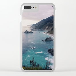 Big Sur Sunset Clear iPhone Case