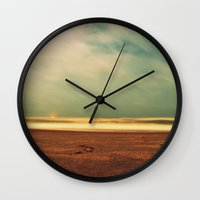 salt water Wall Clocks featuring salt water story by gypsy's heirloom