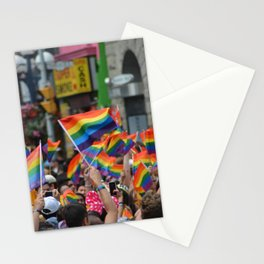 Gay Pride March Stationery Cards